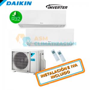 Aire Acondicionado Multisplit 2X1 DAIKIN 2MXM40N FTXM20R FTXM20R