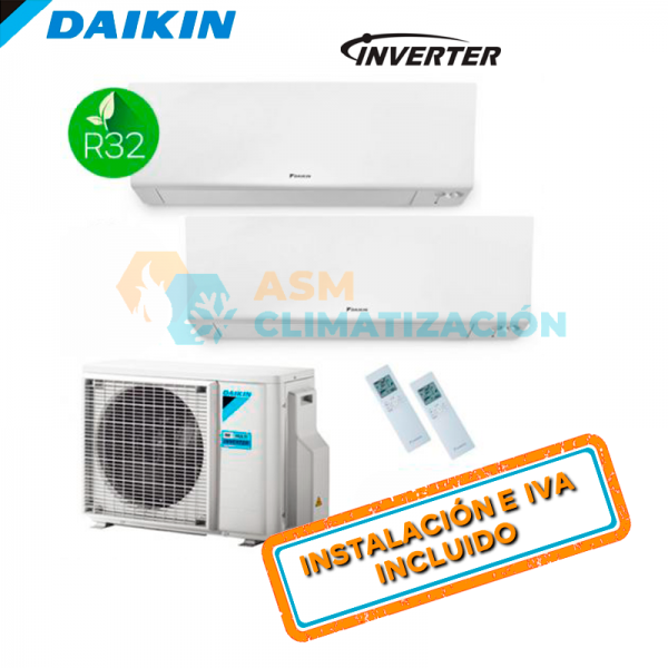 Aire Acondicionado Multisplit 2X1 DAIKIN 2MXM40N FTXM20R FTXM25R