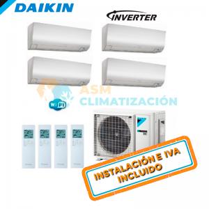 Aire Acondicionado Multisplit 4X1 DAIKIN 4MXM68N FTXM20R x3 FTXM25R