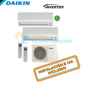 Aire Acondicionado Multisplit 2X1 DAIKIN 2MXM40M FTXP25M FTXP25M